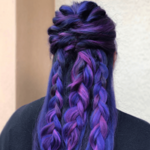 bright, bold hair color