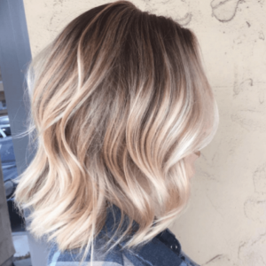 Wavy, blonde hair