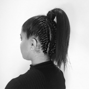 Braided high ponytail for working out