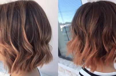 Wavy, textured hair