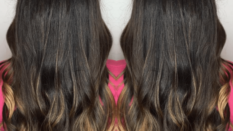 Long, wavy, brown hair