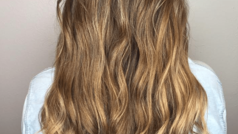 Long, shiny, wavy hair