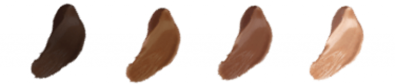 Coffee-colored hair color palette
