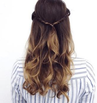 Long, wavy, brown hair